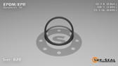 O-Ring, Black EPDM/EPR/Ethylene/Propylene Size: 020, Durometer: 70 Nominal Dimensions: Inner Diameter: 19/22(0.864) Inches (2.19456Cm), Outer Diameter: 1(1.004) Inches (2.55016Cm), Cross Section: 4/57(0.07) Inches (1.78mm) Part Number: OREPD020