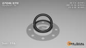 O-Ring, Black EPDM/EPR/Ethylene/Propylene Size: 116, Durometer: 70 Nominal Dimensions: Inner Diameter: 14/19(0.737) Inches (1.87198Cm), Outer Diameter: 33/35(0.943) Inches (2.39522Cm), Cross Section: 7/68(0.103) Inches (2.62mm) Part Number: OREPD116
