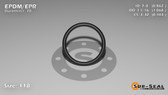 O-Ring, Black EPDM/EPR/Ethylene/Propylene Size: 118, Durometer: 70 Nominal Dimensions: Inner Diameter: 25/29(0.862) Inches (2.18948Cm), Outer Diameter: 1 3/44(1.068) Inches (2.71272Cm), Cross Section: 7/68(0.103) Inches (2.62mm) Part Number: OREPD118