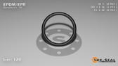 O-Ring, Black EPDM/EPR/Ethylene/Propylene Size: 120, Durometer: 70 Nominal Dimensions: Inner Diameter: 76/77(0.987) Inches (2.50698Cm), Outer Diameter: 1 11/57(1.193) Inches (3.03022Cm), Cross Section: 7/68(0.103) Inches (2.62mm) Part Number: OREPD120