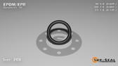 O-Ring, Black EPDM/EPR/Ethylene/Propylene Size: 208, Durometer: 70 Nominal Dimensions: Inner Diameter: 14/23(0.609) Inches (1.54686Cm), Outer Diameter: 55/62(0.887) Inches (2.25298Cm), Cross Section: 5/36(0.139) Inches (3.53mm) Part Number: OREPD208