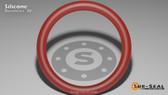 O-Ring, Orange Vinyl Methyl Silicone Size: 176, Durometer: 70 Nominal Dimensions: Inner Diameter: 9 9/38(9.237) Inches (23.46198Cm), Outer Diameter: 9 35/79(9.443) Inches (23.98522Cm), Cross Section: 7/68(0.103) Inches (2.62mm) Part Number: ORSIL176