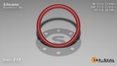 O-Ring, Orange Vinyl Methyl Silicone Size: 218, Durometer: 70 Nominal Dimensions: Inner Diameter: 1 11/47(1.234) Inches (3.13436Cm), Outer Diameter: 1 21/41(1.512) Inches (3.84048Cm), Cross Section: 5/36(0.139) Inches (3.53mm) Part Number: ORSIL218