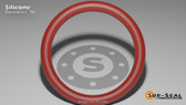 O-Ring, Orange Vinyl Methyl Silicone Size: 283, Durometer: 70 Nominal Dimensions: Inner Diameter: 16 85/89(16.955) Inches (43.0657Cm), Outer Diameter: 17 17/73(17.233) Inches (43.77182Cm), Cross Section: 5/36(0.139) Inches (3.53mm) Part Number: ORSIL283