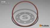 O-Ring, Brown Viton/FKM Size: 235, Durometer: 75 Nominal Dimensions: Inner Diameter: 3 6/55(3.109) Inches (7.89686Cm), Outer Diameter: 3 12/31(3.387) Inches (8.60298Cm), Cross Section: 5/36(0.139) Inches (3.53mm) Part Number: OR75BRNVI235