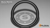O-Ring, Black BUNA/NBR Nitrile Size: 910, Durometer: 90 Nominal Dimensions: Inner Diameter: 37/49(0.755) Inches (1.9177Cm), Outer Diameter: 93/98(0.949) Inches (2.41046Cm), Cross Section: 3/31(0.097) Inches (2.46mm) Part Number: OR90BLKBUN910