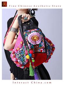 100% Handmade Handbag Purse Backpack Tribal Vintage Bag Exquisite Artwork #147