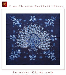100% Hand Batik All Cotton 110x110 cm Table Cloth Cover Tapestry Throw Wall Decor #110