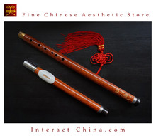 Sandalwood Bawu Flute Ba Wu Pipe Woodwind Detachable #103 + Case + How to Play Guide