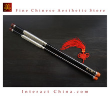 Premium Ebony Bawu Flute Chinese Ba Wu Pipe Woodwind Dual Pipe #108 - Pro Level