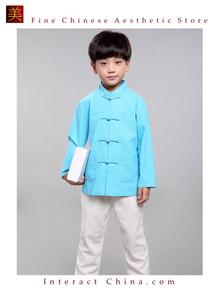 100% Handmade Boys Long Sleeve Kung Fu Tai Chi Martial Arts Kids Jacket #103