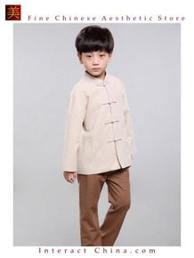 100% Handmade Boys Long Sleeve Kung Fu Tai Chi Martial Arts Kids Jacket #104