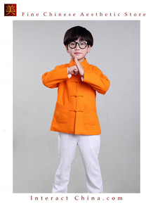 100% Handmade Boys Long Sleeve Kung Fu Tai Chi Martial Arts Kids Jacket #105