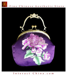 100% Hand Embroidery Handbag Purse Clutch Evening Bag #103