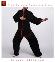 Flowing Unisex Velvet Suit for Tai Chi and Leisure Time in Chinese Style #101
