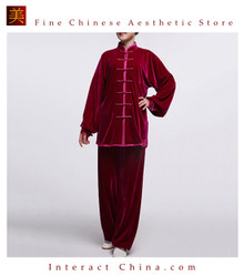 Flowing Unisex Velvet Suit for Tai Chi and Leisure Time in Chinese Style #108