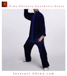 Flowing Unisex Velvet Suit for Tai Chi and Leisure Time in Chinese Style #109