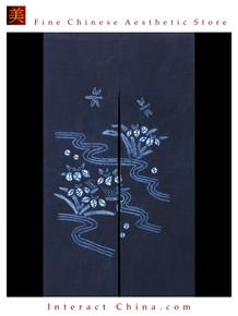 "100% Handcraft Batik All Cotton Drape Door Panel Curtain 33x59"" Wall Hanging #102"