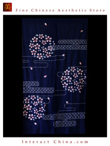 "100% Handcraft Batik All Cotton Drape Door Panel Curtain 33x59"" Wall Hanging #105"