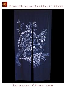"100% Handcraft Batik All Cotton Drape Door Panel Curtain 33x59"" Wall Hanging #110"