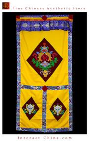 """100% Handcraft Cotton Tibetan Drape Door Panel Curtain 35x71"""" Wall Hanging #104"""