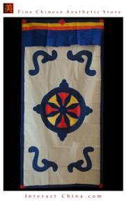"""100% Handcraft Cotton Tibetan Drape Door Panel Curtain 35x71"""" Wall Hanging #108"""
