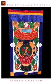 """100% Handcraft Cotton Tibetan Drape Door Panel Curtain 35x71"""" Wall Hanging #111"""