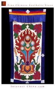 """100% Handcraft Cotton Tibetan Drape Door Panel Curtain 35x71"""" Wall Hanging #112"""