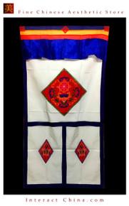 """100% Handcraft Cotton Tibetan Drape Door Panel Curtain 35x71"""" Wall Hanging #116"""