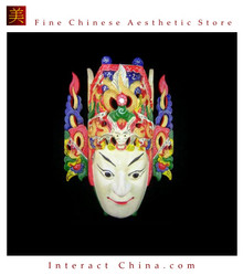 Chinese Drama Home Wall Decor Opera Mask 100% Wood Craft Folk Art #107 Pro Level