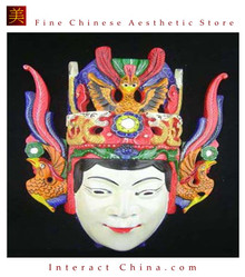 Chinese Drama Home Wall Decor Opera Mask 100% Wood Craft Folk Art #115 Pro Level