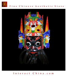 Chinese Drama Home Wall Decor Opera Mask 100% Wood Craft Folk Art #509 - 09x13""
