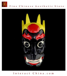 Chinese Home Wall Decor Ritual Dance Mask 100% Wood Craft Folk Art #103 Pro Level