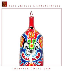 Chinese Home Room Wall Decor Festive Mask 100% Wood Craft Folk Art #107 - 07x16""