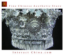 Silver Tiara Vintage Costume Tribal Jewelry 100% Handcrafted Jewellery Art #101L