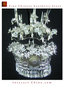 Silver Tiara Vintage Costume Tribal Jewelry 100% Handcrafted Jewellery Art #101MG