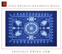 100% Handmade Batik Art Pure Cotton Bed Sheet Spread Linen Bedding - Queen #110