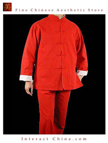 Premium Line Red Kung Fu Martial Arts Taichi Uniform Suit XS-XL or Tailor Custom Made