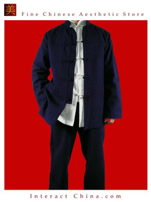 Fine Linen Blue Kung Fu Martial Arts Tai Chi Uniform Suit XS-XL or Tailor Custom Made