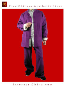 100% Cotton Purple Kung Fu Martial Arts Tai Chi Uniform Suit XS-XL or Tailor Custom Made