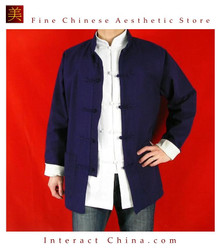 Premium Linen Blue Kung Fu Martial Arts Tai Chi Jacket Coat XS-XL or Tailor Custom Made