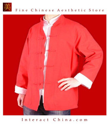 Fine Linen Red Kung Fu Martial Arts Tai Chi Jacket Coat XS-XL or Tailor Custom Made
