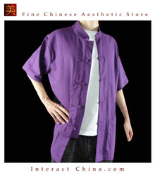 Fine Linen Purple Kung Fu Martial Arts Tai Chi Shirt Clothing XS-XL or Tailor Custom Made