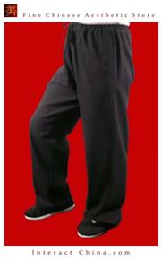 Premium Linen Black Kung Fu Martial Art Taichi Pant Trousers XS-XL or Tailor Custom Made