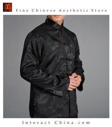 Chinese Tai Chi Kungfu Reversible Black / Red Jacket Blazer 100% Silk Brocade #107