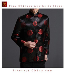 Classic Chinese Tai Chi Kungfu Black Jacket Blazer - Lightweight Silk Blend #204
