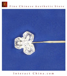 Interact China Handmade Silver Hair Accessories Stick Pin Tribal Ethnic Hmong Miao Jewelry #106 y9Zkfy7936