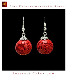 Genuine Fine Chinese Lacquer Drop Dangle Earring Jewelry 100% Handcraft Artwork #101