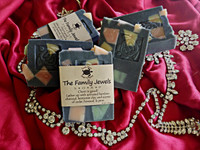 Family Jewels handmade soap with activated charcoal