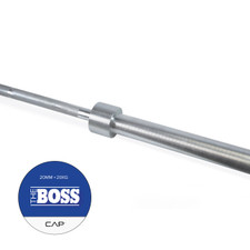"CAP ""The Boss"" Olympic Power Lifting Bar, Silver Zinc"